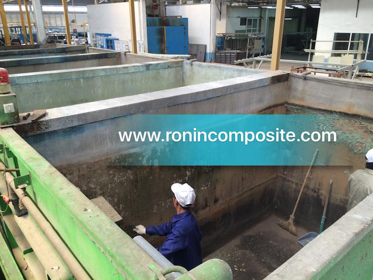 bọc composite bể ngâm hoá chất